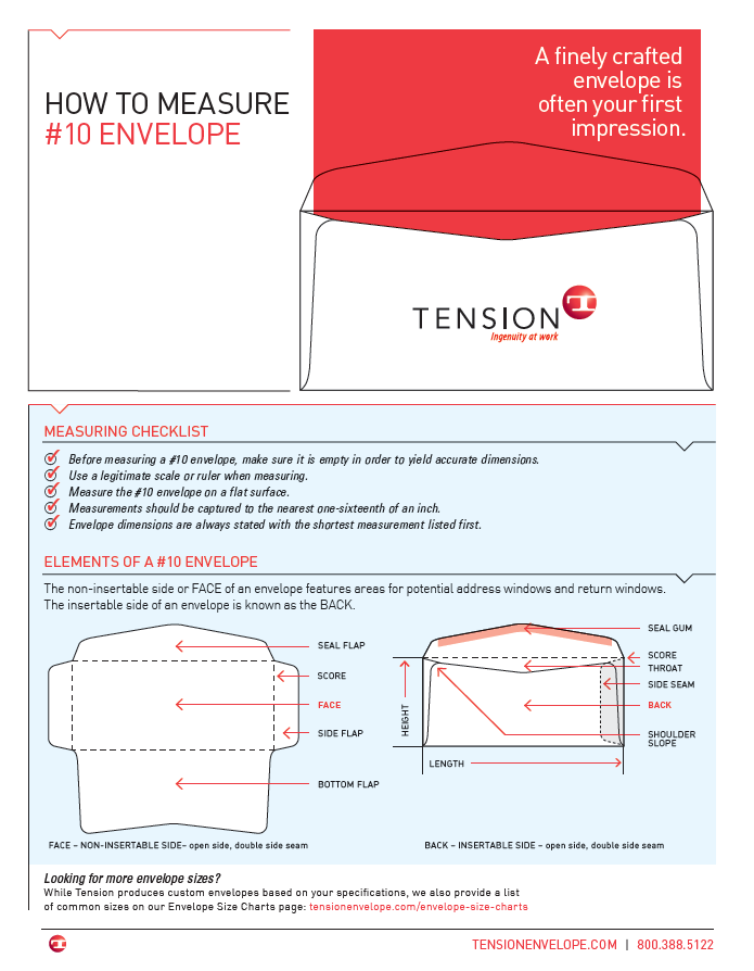 How to Measure a #10 Envelope