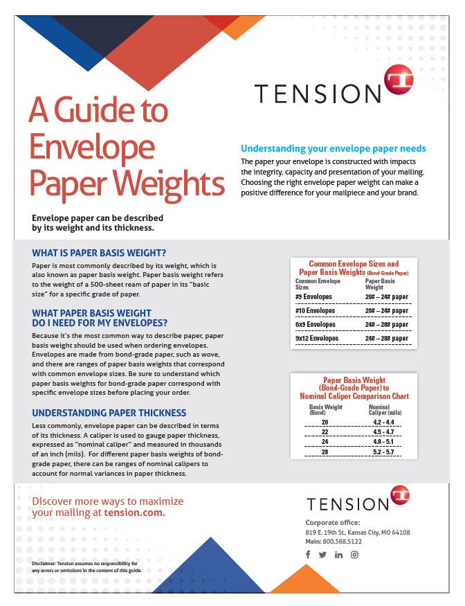 envelope paper guide