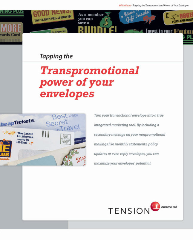 transpromo envelopes
