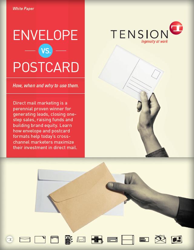 envelope vs. postcard